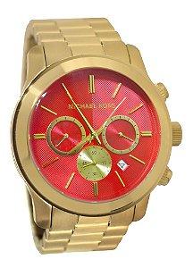 Relógio Feminino Michael Kors MK5930 Gold Fundo Laranja