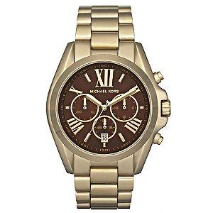 Relógio Feminino Michael Kors MK5502 Dourado Com o Fundo Maron