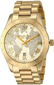 Relógio Feminino Michael Kors MK5959 Layton Pave Gold Cristais
