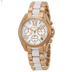 Relógio Feminino Michael Kors MK5907 Ouro Rosé & Branco