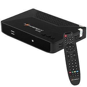 Receptor Fta Azamerica Beats HDMI/USB/Porta Ethernet - Preto