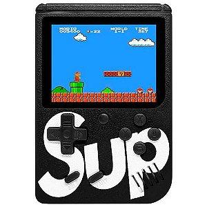 Mini Game Portátil Retro Sup Game Box 400 in 1 Plus com 400 Jogos - Preto