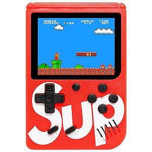 Mini Game Portátil Retro Sup Game Box 400 in 1 Plus com 400 Jogos - Vermelho
