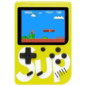 Mini Game Portátil Retro Sup Game Box 400 in 1 Plus com 400 Jogos - Amarelo