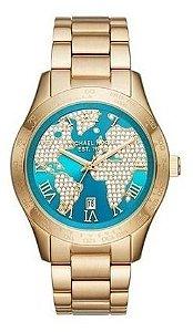 Relógio Feminino Michael Kors MK6375 Dourado Cravejado