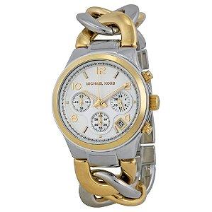 Relógio Feminino Michael Kors MK3199 Misto Prata com Dourado