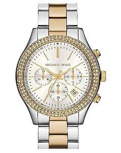 Relógio Feminino Michael Kors MK6252 Misto Cravejado