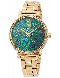 Relógio Feminino Michael Kors MK3946 Dourado Cravejado