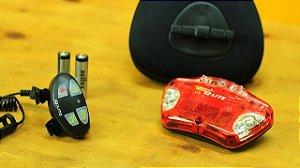 Q-LITE QL273 - Bolsa de selim com lanterna sinalizadora integrada e comandos sem fio no guidão