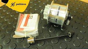 Cubo Dínamo Shimano DH-3D32 QR - para freio a disco