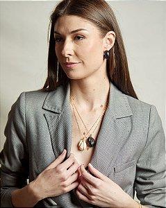 Argola Resina Preto - Barbara Migliori para LOOL