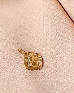 Pingente Infinito Dourado, LOOL