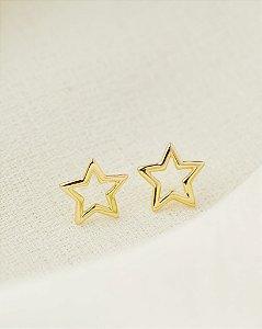 Brinco Mini Estrela - Dourado