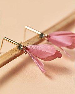 Brinco Flor Metal Rosa - KOA