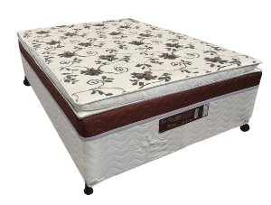 CAMA BOX D28 138X188X50 MERON SAFIRA C/PILLOW