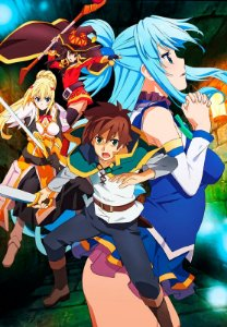 Banner Konosuba Personagens