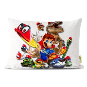 Fronha Travesseiro Super Mario Bros Odyssey
