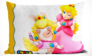 Fronha Travesseiro Super mario Bros Princesa Peach