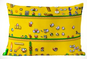 Fronha Travesseiro Super Mario Bros 8 Bits