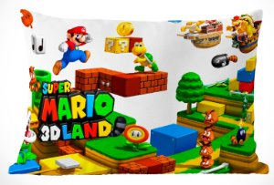 Fronha Travesseiro Super Mario Bros Mario 3D Land