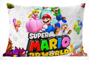 Fronha Travesseiro Super Mario Bros  Mario 3D World
