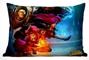 Fronha Travesseiro LOL Annie, KatarinaI e Blitzcrank
