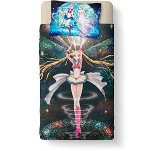 Lençol Solteiro e fronha Sailor Moon - Serena