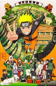 Lençol Solteiro e fronha Naruto Shippuden Personagens