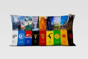 Fronha Travesseiro Game of Thrones Castelos Tamanho Especial