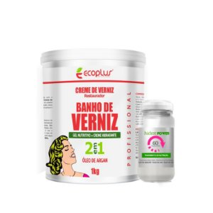 Banho de Verniz Nutrição Ecoplus 1KG + Ampola *BRINDE*
