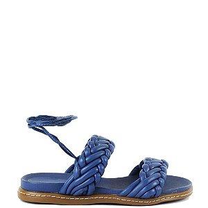 Papete de amarrar no tornozelo Cláudia Mourão Azul