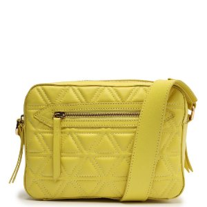Bolsa Transversal Pequena Lili Schutz Amarelo