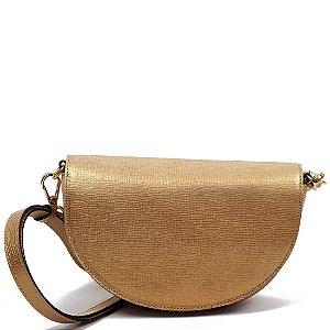 Bolsa Claudia Mourão (AZ5129) Laminado Ouro