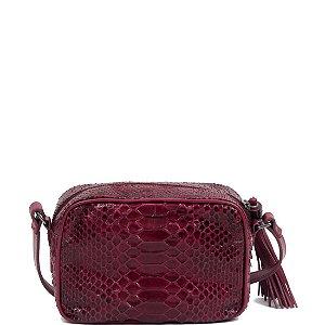 Bolsa de Python Cláudia Mourão (BH3771) Lezard Vermelho