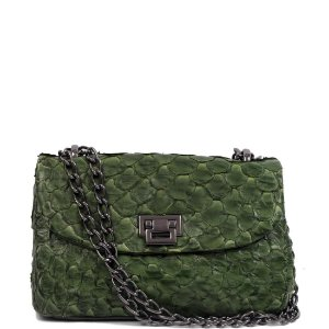 Bolsa de Python Cláudia Mourão (BH4087) Verde