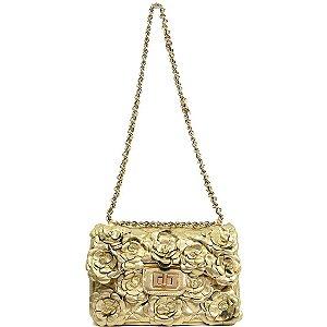 Bolsa La Spezia (BD6129) Laminado Ouro