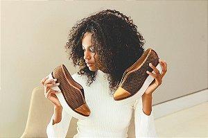 Sapato Paula Bahia (BD4830) Laminado Bronze