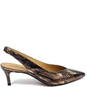 Scarpin Python Cláudia Mourão (AR8930) Laminado Bronze