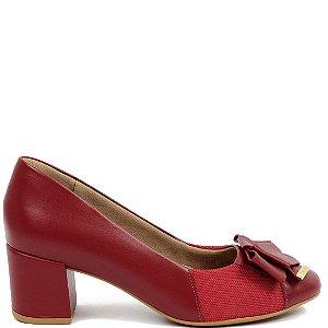 Scarpin Usaflex (BH7578) Couro Vermelho