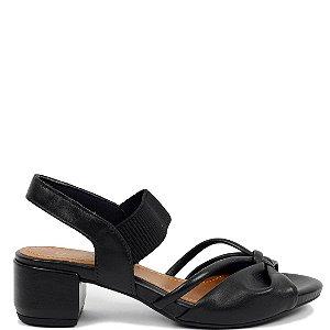 Sandália Usaflex (BH7701) Couro Preto