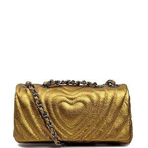 Bolsa Cláudia Mourão (BH2430) Metalizado Ouro