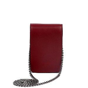 Bolsa Cláudia Mourão (BI8678) Couro Vermelho