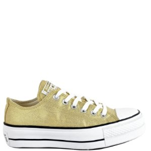 Tênis Converse All Star (BM6129) Laminado Ouro
