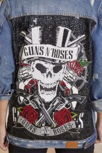 Jaqueta Bordada Guns N' Roses