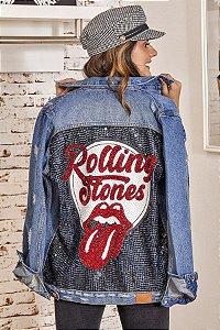 Jaqueta Bordada (BQ7109) The Rolling Stones
