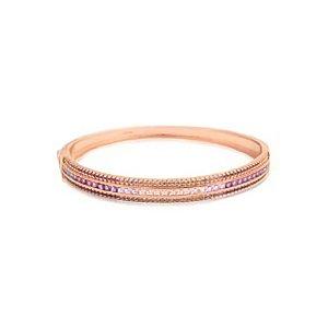 Bracelete Degradê Roxo, Azul e Rosa Folheado Ouro Rosé 18k