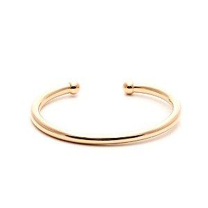Bracelete Bolas Liso Folheado Ouro Amarelo 18k