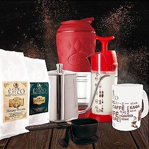 Kit presenteável Pressca Café Épico (Vermelho)
