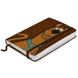 Caderneta de Anotação com Elástico 80 Folhas Hanna Barbera Scooby Doo Face Marrom