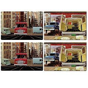 Jogo Americano Vintage PVC GM Old Trucks Colorido 4
